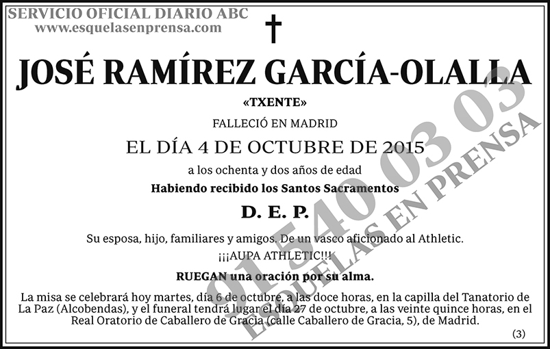 José Ramírez García-Olalla